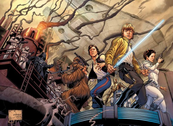"""""""Star Wars"""" No. 1 variant cover illustrated by Joe Quesada. (Image courtesy of Marvel Entertainment)"""