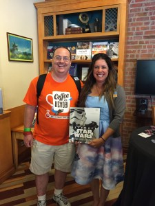 Tricia Barr and I with her new book, Ultimate Star Wars