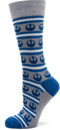 Rebel Stripe Gray Socks Star Wars Designer CuffLinks.com