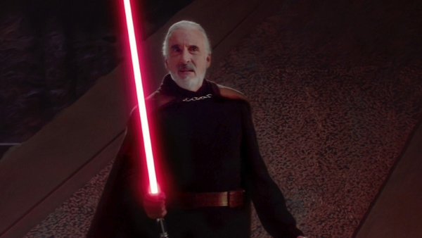 Dooku with Red Lighstaber