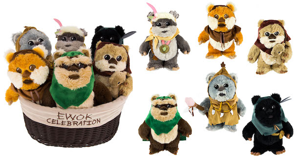 Second collection of Ewok plush.