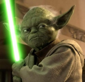 Yoda with Light Saber, The March of Time