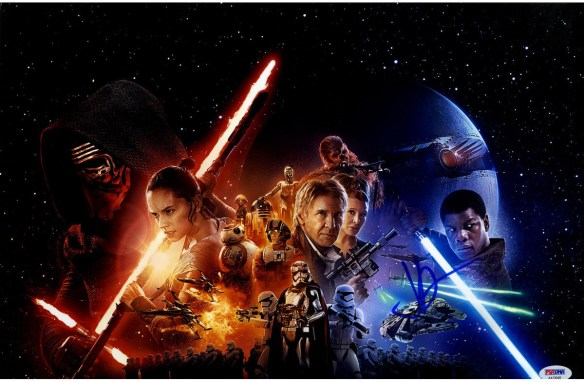 J.J. Abrams Signed 12x18 Star Wars: The Force Awakens Movie Vertical Poster