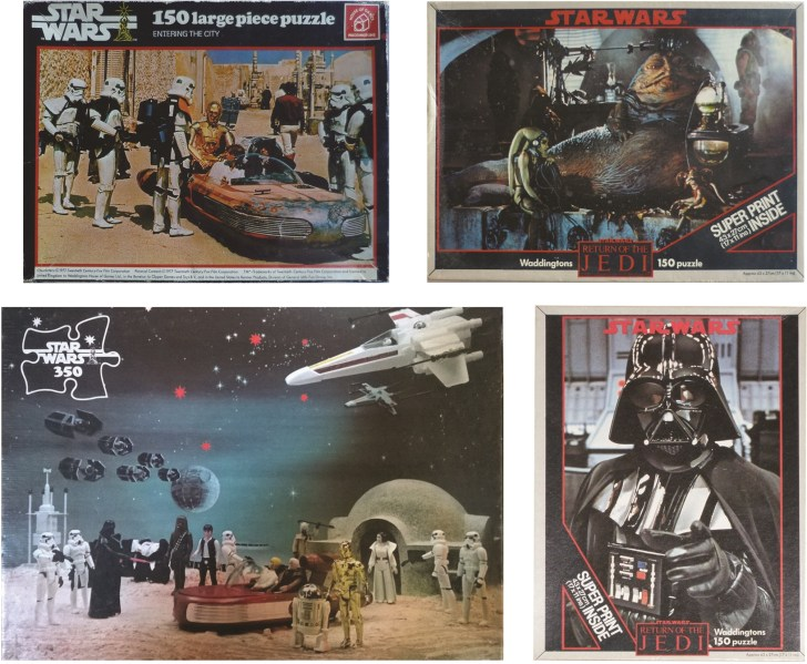 P34, Waddingtons released several photographic puzzles for STar Wars and Return of the Jedi but didn't issue any jigsaws for The Empire Strikes Back