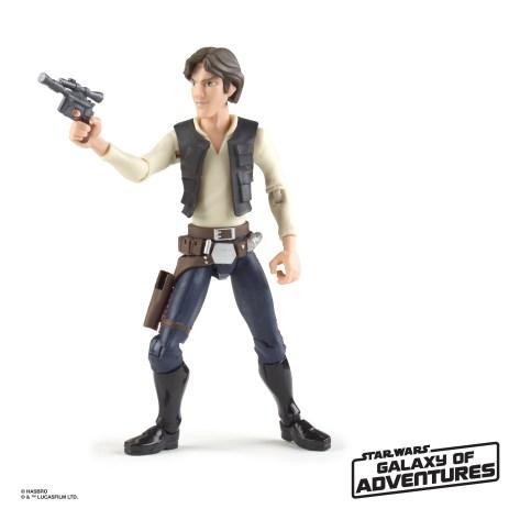 STAR WARS GALAXY OF ADVENTURES 5-INCH Figure Assortment - Han Solo (oop 2)