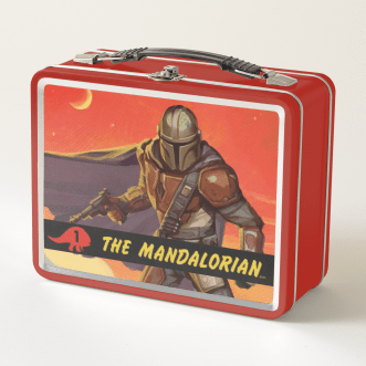 Vintage Style Mandalorian Halftone Art Metal Lunch Box - $36.83 Available at https://www.zazzle.com/starwars.