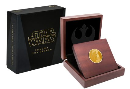 NEW ZEALAND MINT: Star Wars Classic: Princess Leia™ 1 Oz Gold Coin - $600 - $2,500 Presented in a high-quality Star Wars branded and stylized inner coin case and themed outer coin packaging, these coins would make an excellent gift for Star Wars fans or collectors. The Certificate of Authenticity sits within the coin case and there is a worldwide limited mintage that is based on the type of coin. Shop now at New Zealand Mint: https://www.nzmint.com/coins/coin-collections/star-wars-classic/princess-leia-collectible-1oz-gold-coin?nav=5856%20Star%20Wars%20Classic:%20Princess%20Leia%E2%84%A2%201/4%20Oz%20Gold%20Coin