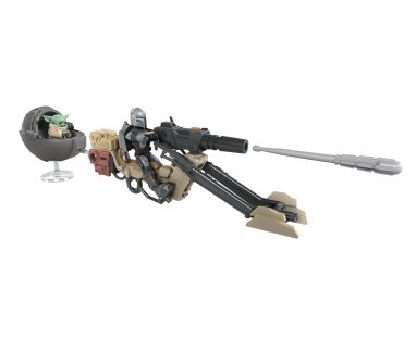 STAR WARS MISSION FLEET THE MANDALORIAN BATTLE FOR THE BOUNTY Vehicle and Figure (HASBRO/Ages 4 years & up/Approx. Retail Price: $14.99/Available: Fall 2020) Blast off into a galaxy of adventure with the STAR WARS MISSION FLEET vehicles and figures! These fun vehicles and figures allow kids to imagine action-packed battles between the dark side and the light side of the Force. Boys and girls will love pretending to race through deserts with the STAR WARS MISSION FLEET THE MANDALORIAN BATTLE FOR THE BOUNTY Vehicle and Figure, featuring a repositionable projectile launcher. The included 2.5-inch-scale THE MANDALORIAN figure features multiple points of articulation, with design and detail inspired by the live-action series THE MANDALORIAN on Disney Plus. Includes vehicle, figure and 12 accessories, featuring additional THE CHILD and hover-pram accessories. Available at most major retailers.