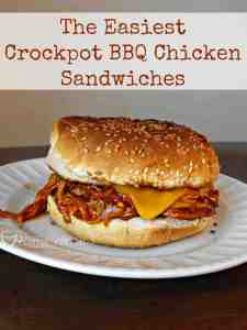 Crockpot BBQ Chicken Sandwiches