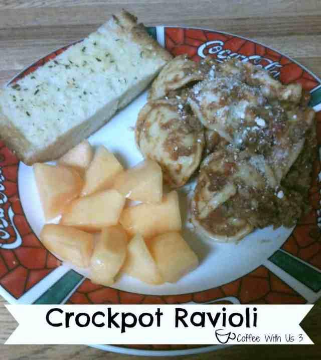 Crockpot Ravioli from Coffee With Us 3 #recipes #crockpot