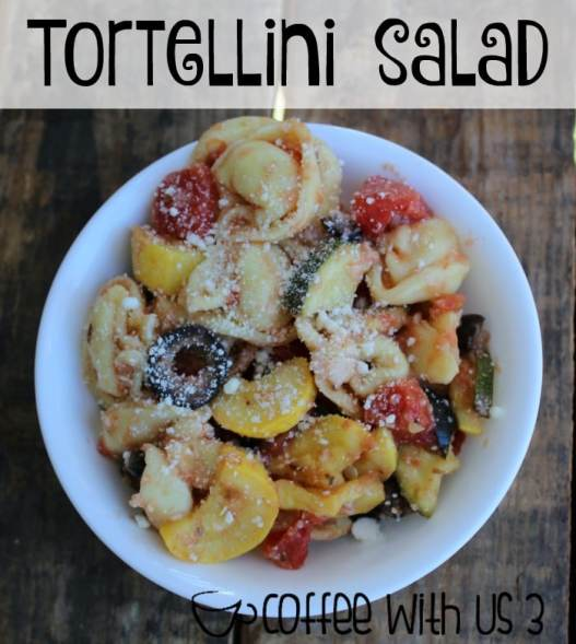 Tortellini Salad by Coffee With Us 3 | This pasta salad is perfect for a bbq, potluck, or as a side dish for any summer meal. I also love to eat it for lunch!