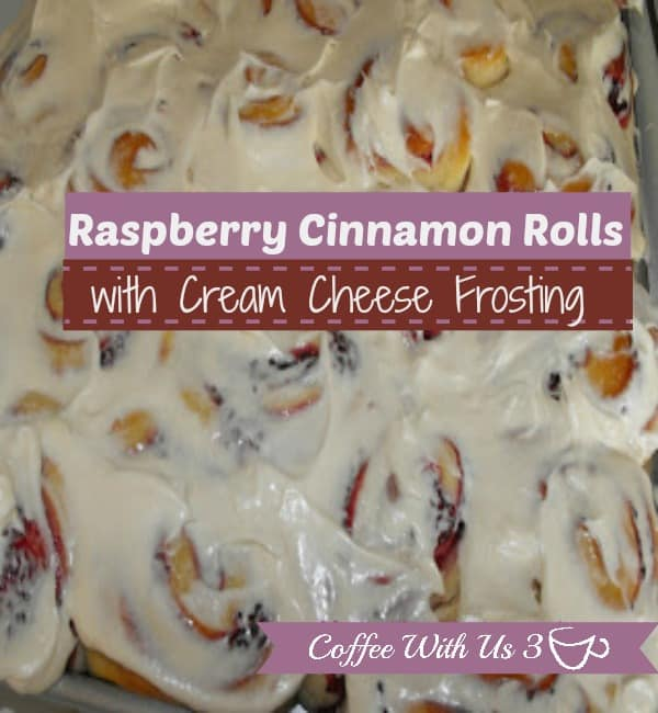 Raspberry Cinnamon Rolls with Cream Cheese Frosting by Coffee With Us 3