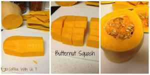 Butternut Squash cut up