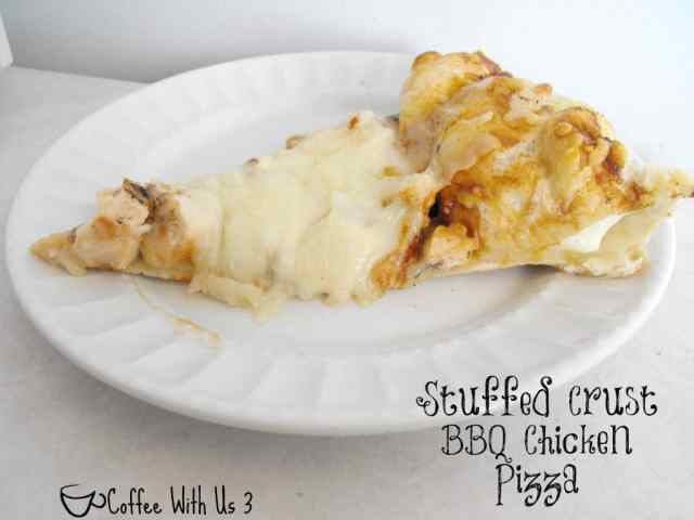 Stuffed Crust BBQ Chicken Pizza