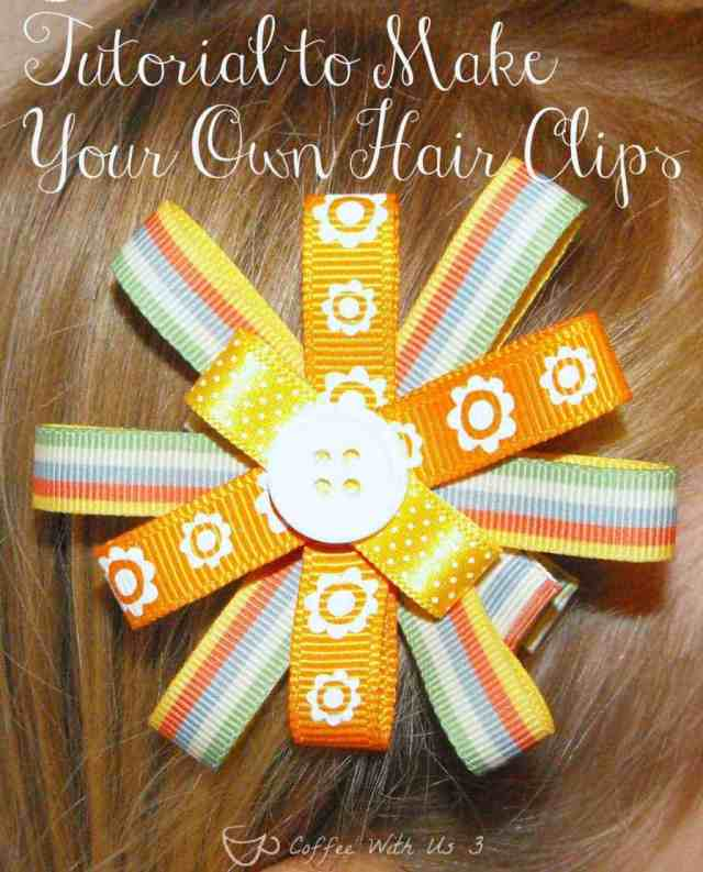 Easy Tutorial to Make Your Own Hair Clips