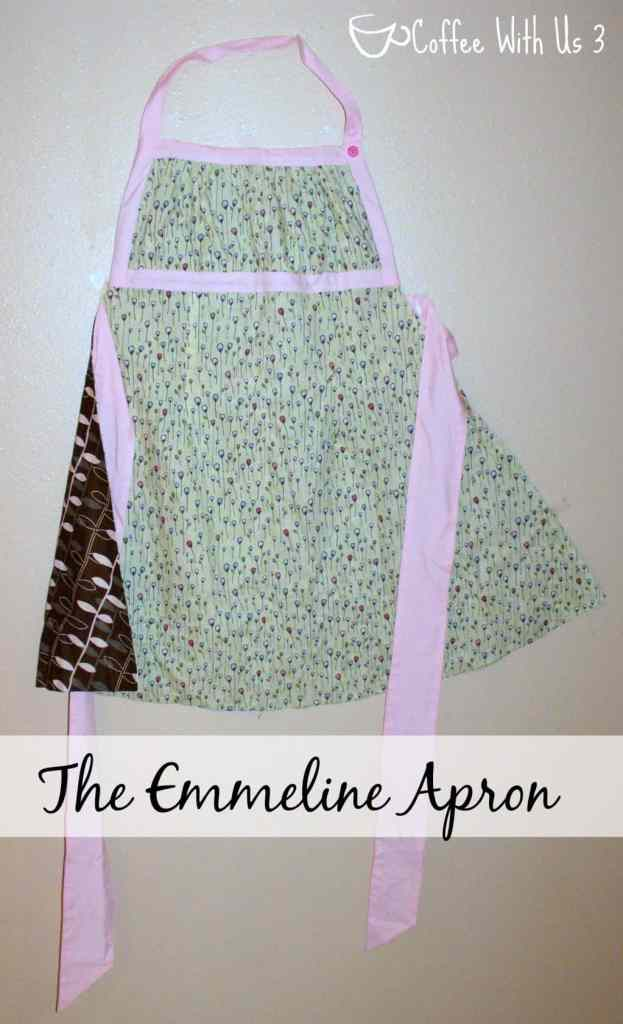 Emmeline Apron in Sage and Pink