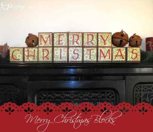 Christmas Blocks (reversible for Thanksgiving as well!)