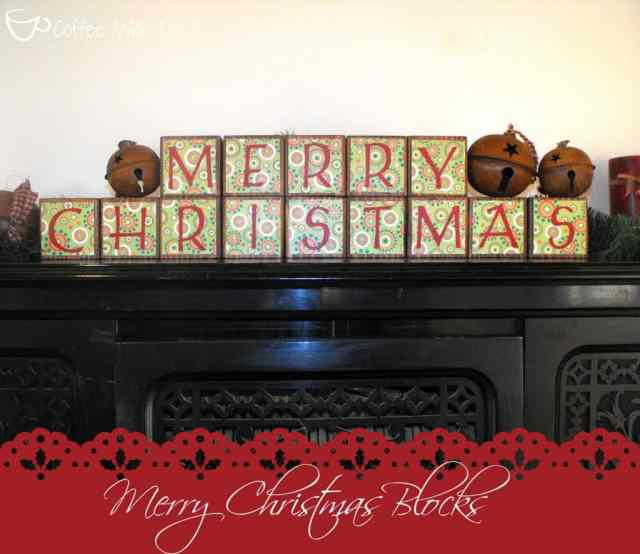 Super easy holiday blocks that ANYONE can do! Plus they're reversible!! Make 1 set and be ready to decorate for both Thanksgiving and Christmas!