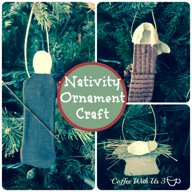 Nativity Ornament Craft for Kids by Coffee With Us 3 / Simple, Cute Ornaments that Kids can make!