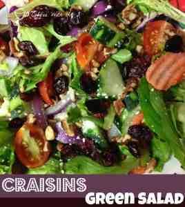 Craisins Green Salad winter
