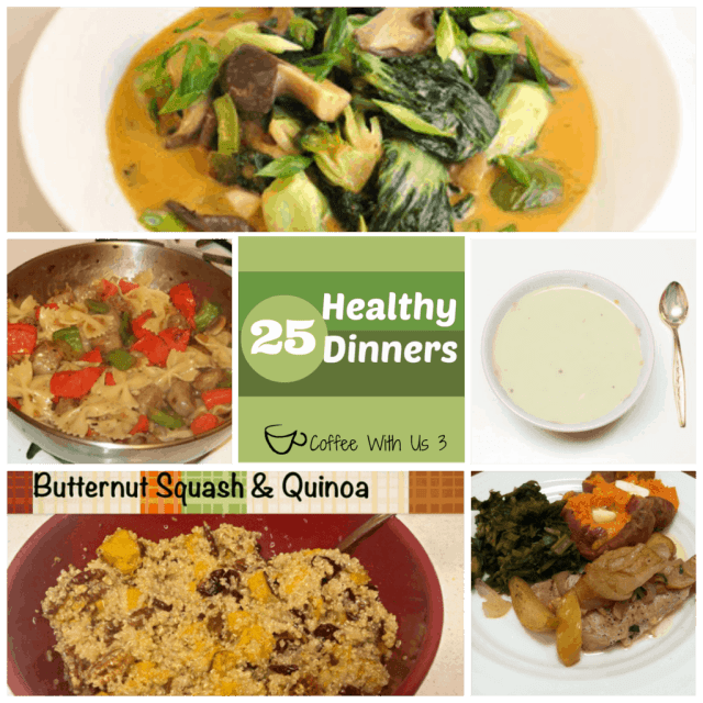 Healthy Dinner Recipes Under 3: 25 Healthy Dinners25 Healthy Dinners
