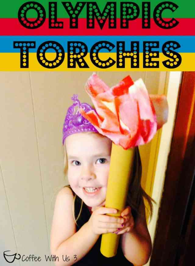 Olympic Torch Childrens Craft