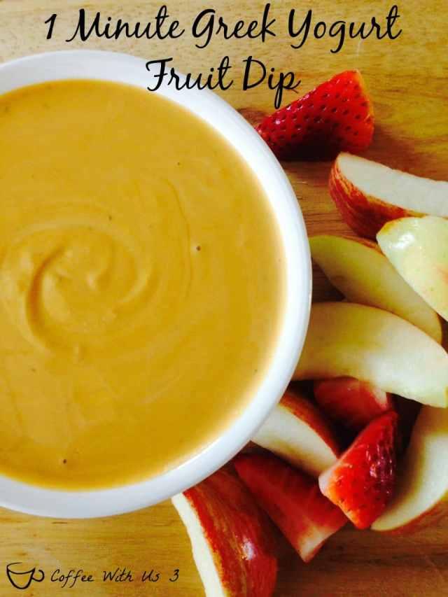 1 Minute Greek Yogurt Fruit Dip