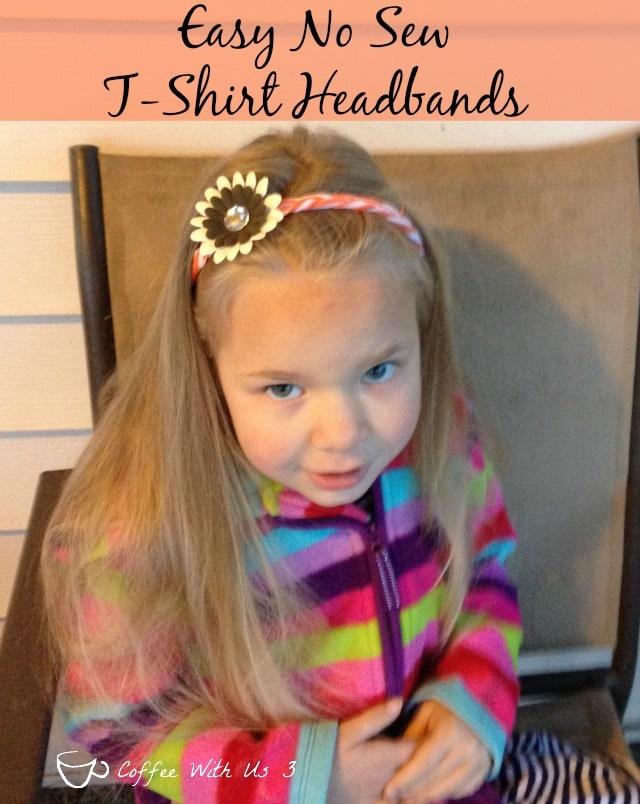 Easy No Sew T-shirt headbands