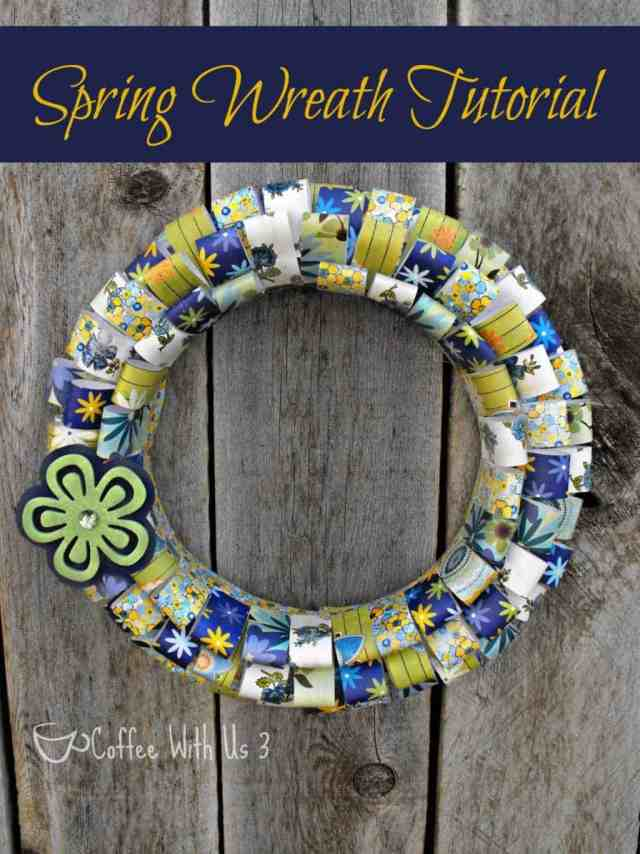 Paper Wreath Tutorial for Spring from Coffee With Us 3 #wreath #spring
