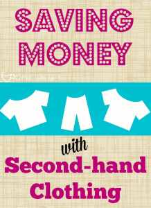 Buying kids' clothing second-hand can save you tons! #secondhandclothing