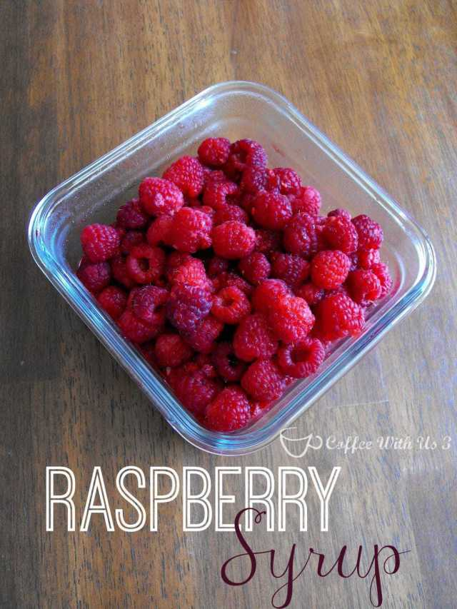 Raspberry Syrup- delicious and easy, and just 2 ingredients! #raspberry #recipes