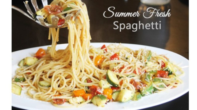 summer fresh Spaghetti