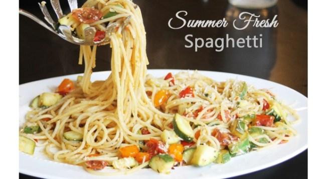 summer fresh Spaghetti