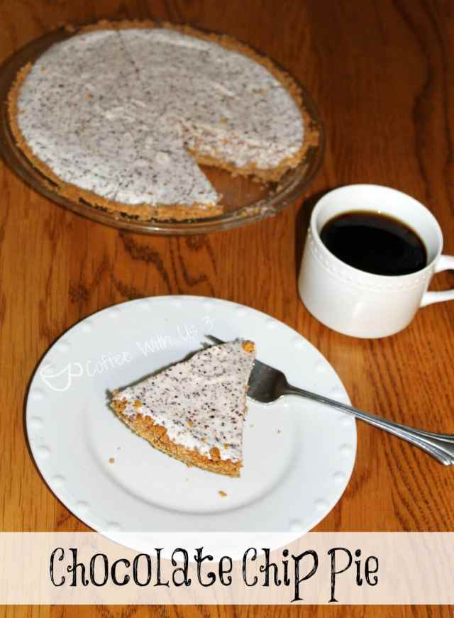 Old-Fashioned Chocolate Chip Pie is light and fluffy, easy and delicious!