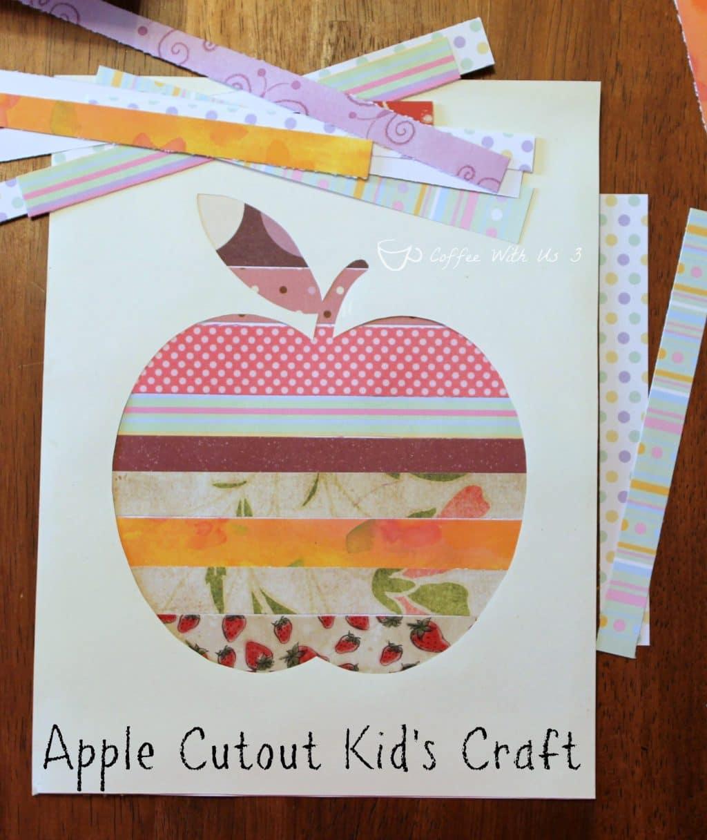 Apple Cutout Kids Craft