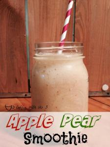 Apples, Pears & some veggies make for a delicious & seasonal fall smoothie! That tastes delicious!