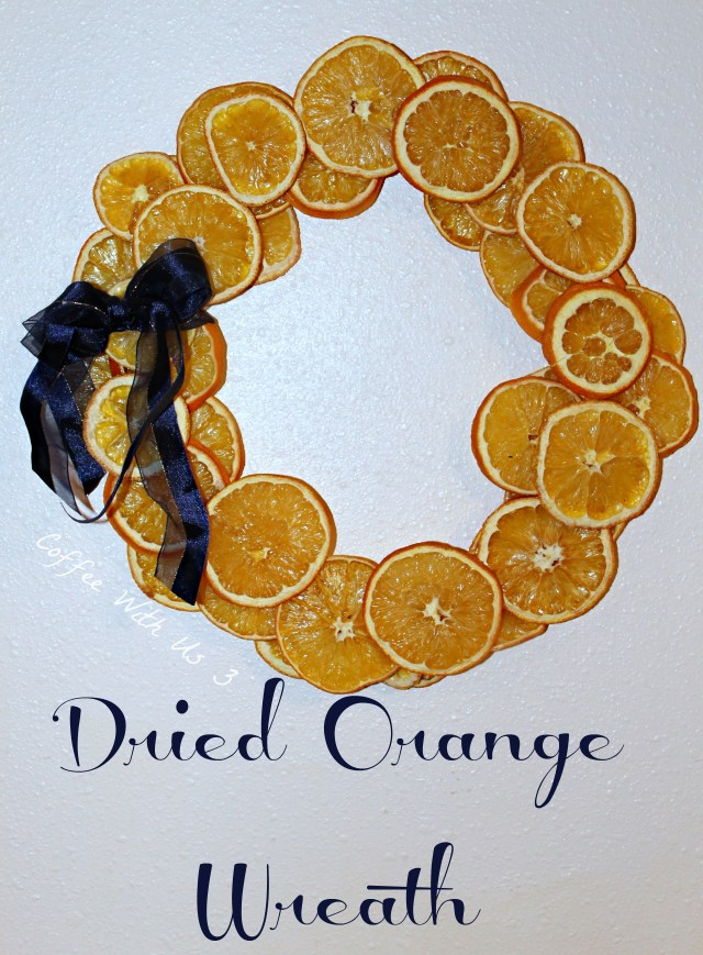 Dried Orange Wreath with Blue Ribbon