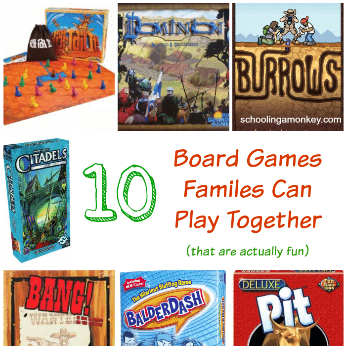 board games families can play together square