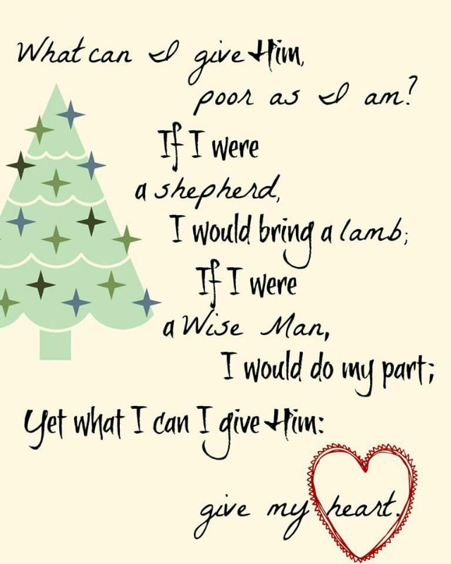 Give him My Heart Free Printable. Plus check out the other great printables for Thanksgiving & Christmas!