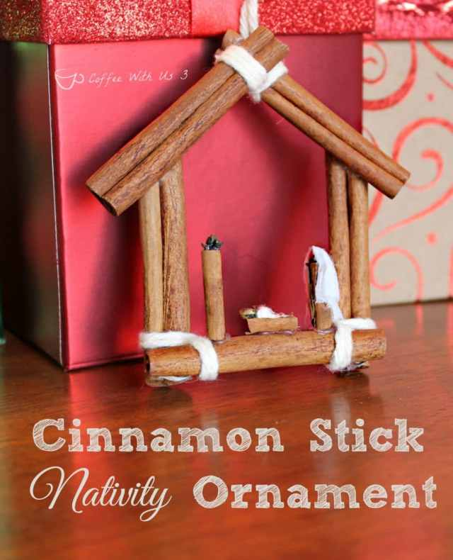 Cinnamon Stick Nativity Ornament