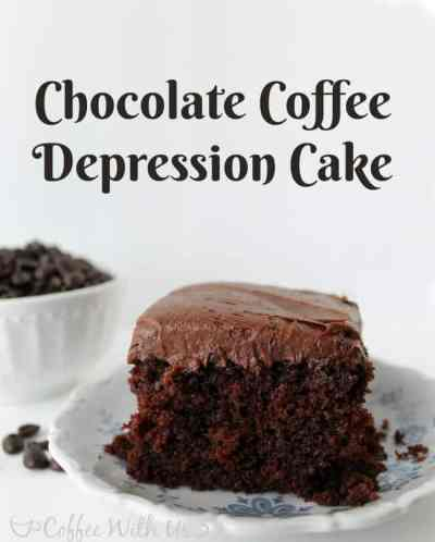 Chocolate Coffee Depression Cake is moist and delicious, made from scratch, and uses no eggs, milk, or butter, making it a great allergy-friendly choice!