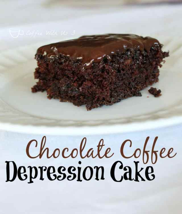 Chocolate Coffee Depression Cake- no eggs, milk or butter!
