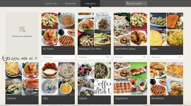 Looking for recipes?  Check out my new go-to site Yummly!  Tons of great recipes plus lots of other really cool features that make food planning easier!
