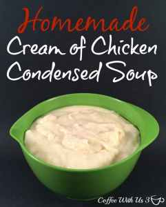 Homemade Cream of Chicken Condensed Soup
