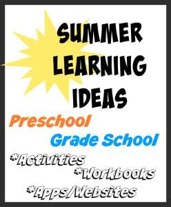 Great resources for fun summer learning ideas including activities, workbooks, websites and apps for both Preschoolers and Grade-Schoolers. Plus a Microsoft Surface 3 Giveaway!