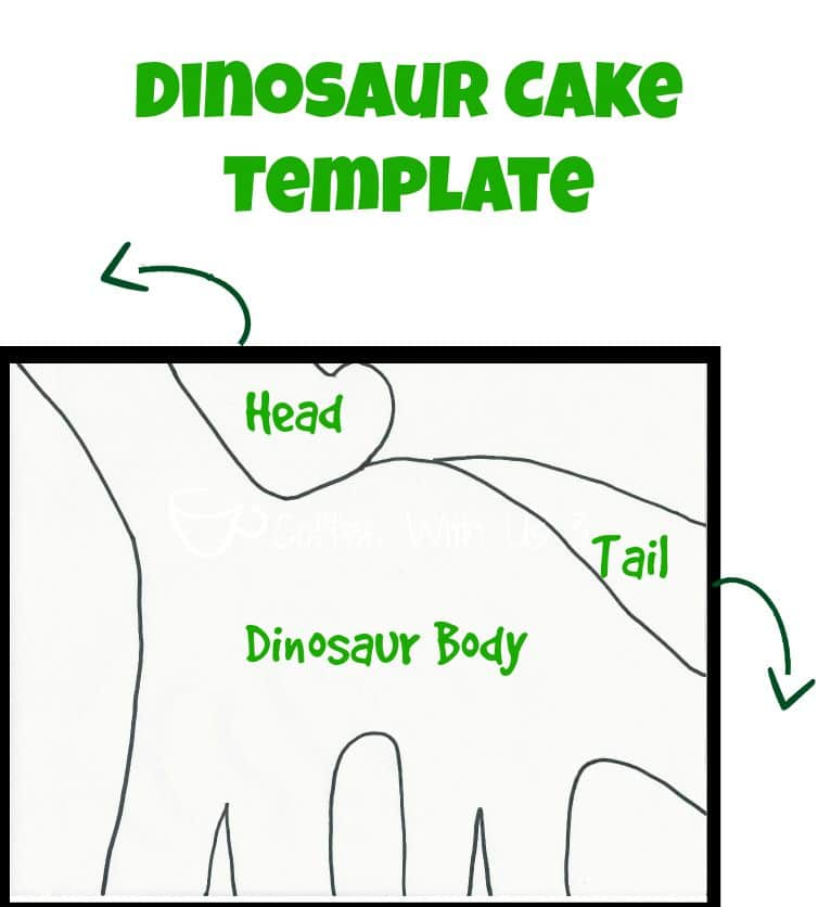 Diy dinosaur cake coffee with us 3 for How to make a dinosaur cake template