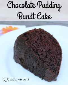 chocolate pudding bundt cake slice