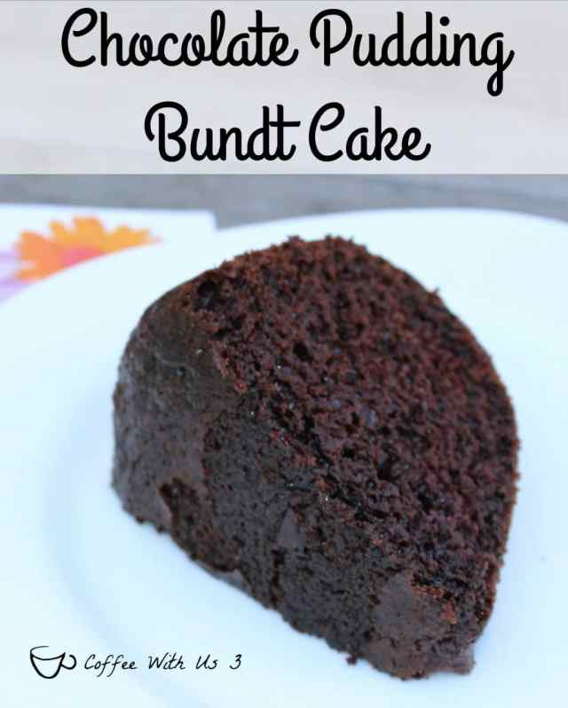 Chocolate cake mix & chocolate pudding make for a delicious and moist Chocolate Pudding Bundt Cake