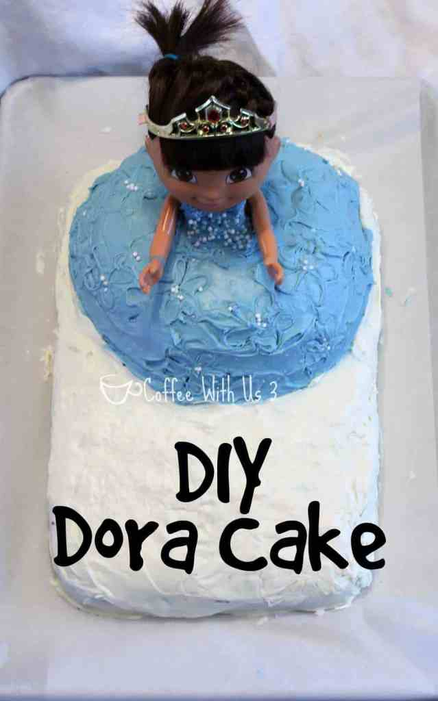A simple Dora cake that even a beginner baker can make! Made with a boxed mix or from scratch, and baked in a mixing bowl!