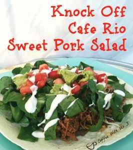 Knock off cafe rio sweet pork salad